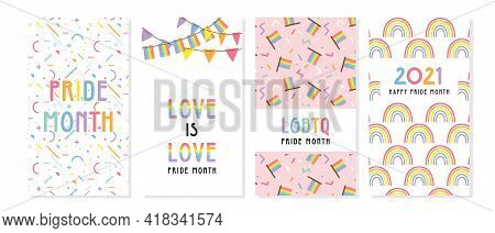 Lgbt Pride Month In June Posters And Web Templates. Lesbian Gay Bisexual Transgender. Celebrated Ann