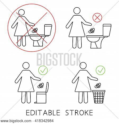 Do Not Flush Sanitary Towels In The Toilet. Do Not Throw Items Down The Lavatory. Please Do Not Flus