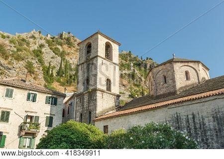 St Mary Collegiate Roman Catholic Church In Kotor, Montenegro