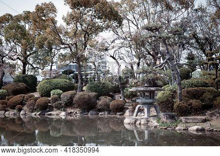 Osaka Castle Garden Landscape