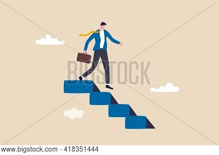 Step Down From Ceo Of Company, Retire From Work Or Career Concept, Success Businessman Stepping Down