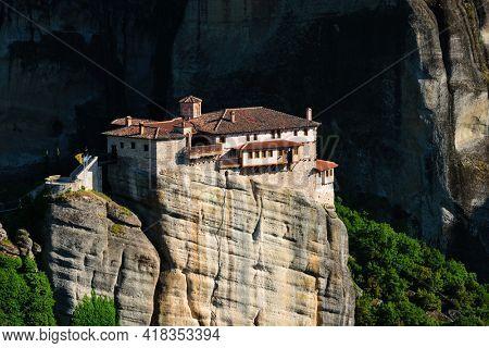 Monastery of Rousanou in Meteora in Greece