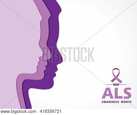 Vector Illustration Of Als(amyotrophic Lateral Sclerosis) Awareness Month. Annual Campaign Is Held I