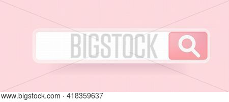 A Graphic Design Element Of The Search Bar. Vector Illustration. Mockup Of The User Interface. In A