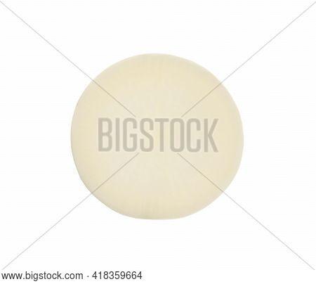 Slice Of Fresh Ripe Turnip On White Background