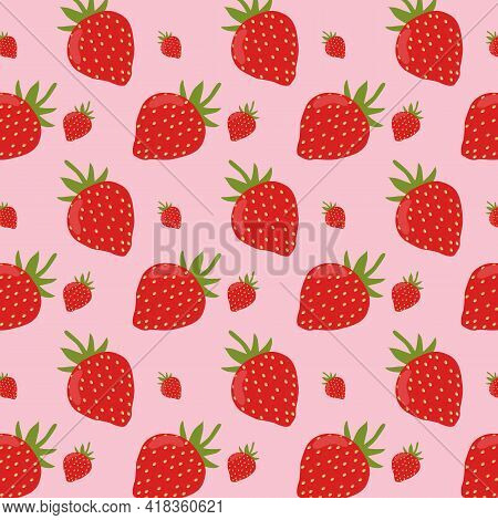 Strawberry Patterns, Red Strawberry, Strawberry Backgrounds. Print For Packaging, Fabrics, Textiles.