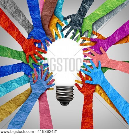 Global Diversity Ideas And Diverse Society Thinking Together As A Team Or A Group Of People Uniting