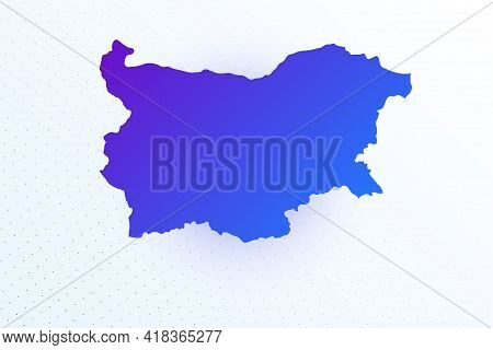 Map Icon Of Bulgaria. Colorful Gradient Map On Light Background. Modern Digital Graphic Design. Ligh