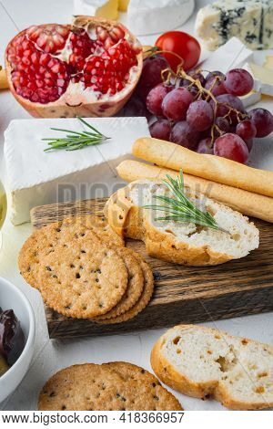 Breadsticks, With Olive Oil, On White Background