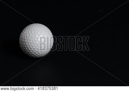 Golf Pellet On Black Background , Golf Ball