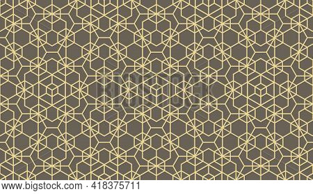 The Geometric Pattern With Lines. Seamless Vector Background. Beige And Gray Texture. Graphic Modern