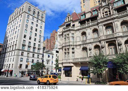 New York, Usa - July 2, 2013: Architecture Of Madison Avenue In New York. Madison Avenue Was Not A P