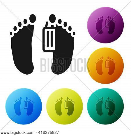Black Dead Body With An Identity Tag Attached In The Feet In A Morgue Of A Hospital Icon Isolated On