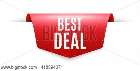 Best Deal. Ribbon Label Tag. Special Offer Sale Sign. Advertising Discounts Symbol. Infographics Pri