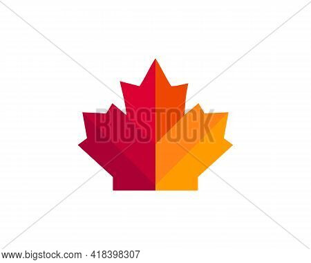 Maple Leaf Vector Illustration. Canada Vector Symbol Maple Leaf Clip Art. Red Maple Leaf.