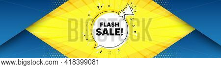 Flash Sale. Background With Offer Speech Bubble. Special Offer Price Sign. Advertising Discounts Sym