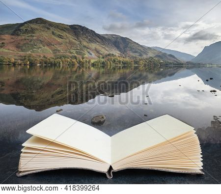 Beautiful Autumn Fall Landscape Image Of Lake Buttermere In Lake District England In Pages Of Imagin