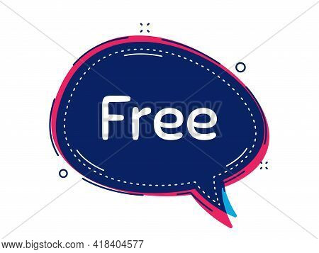 Free Symbol. Thought Bubble Vector Banner. Special Offer Sign. Sale. Dialogue Or Thought Speech Ball
