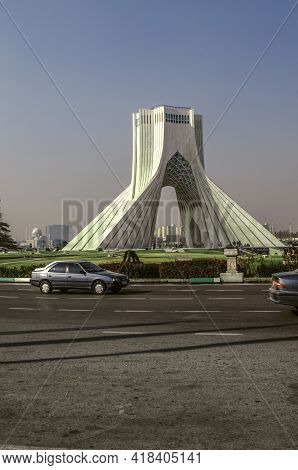 Tehran,iran,november 29,2020:the Symbol Of The City Of Tehran Is The Majestic Architectural Monument