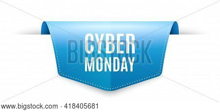 Cyber Monday Sale. Ribbon Label Tag. Special Offer Price Sign. Advertising Discounts Symbol. Infogra