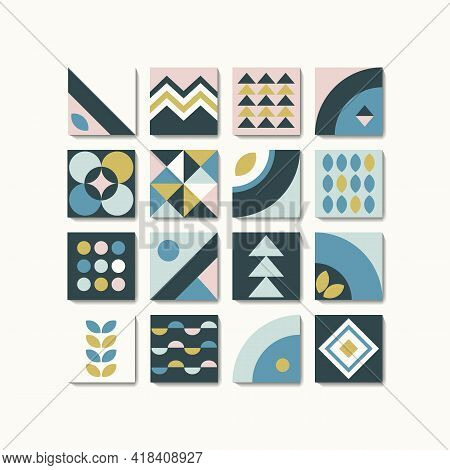Geometry Is A Minimalistic Art Poster With Simple Shapes And Patterns.