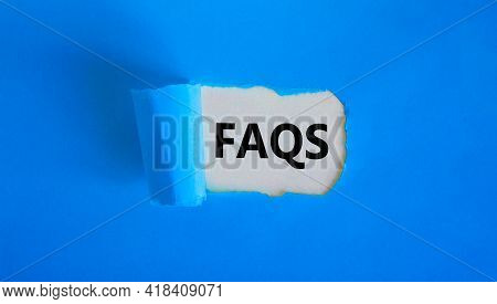 Faqs, Frequently Asked Questions Symbol. Concept Words 'faqs, Frequently Asked Questions' Appearing