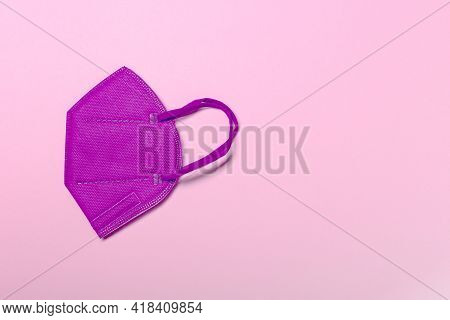 Creative Minimal Flat Lay Layer With Kn95 Or N95 Ffp2 Mask For Protection