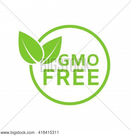 Gmo Free Icon. Healthy Organic Food Concept. No Gmo Design Element For Tag, Product Package, Food Sy
