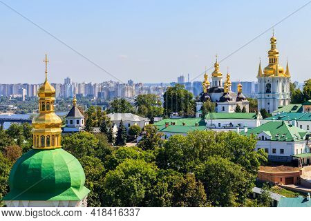 View Of The Kiev Pechersk Lavra, Also Known As The Kiev Monastery Of The Caves In Ukraine