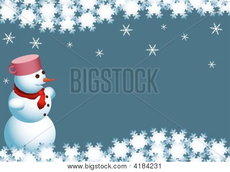 Christmas Wishes Of The Snowman.Eps