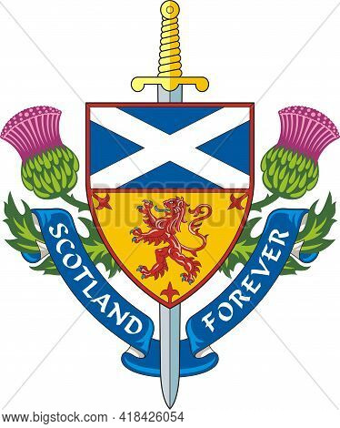 Scotland Forever ( Symbol Of Scotland ). Vector Illustration