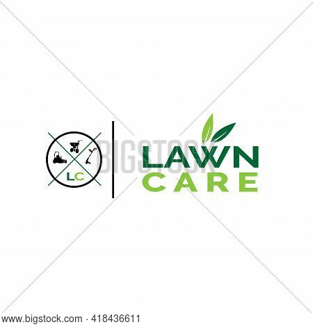 Illustration, Vector, Graphic Of Lawn Care Logo