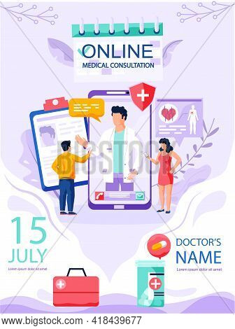 Mobile Application For Online Consultation With Doctor. App For Communication With Medical Specialis