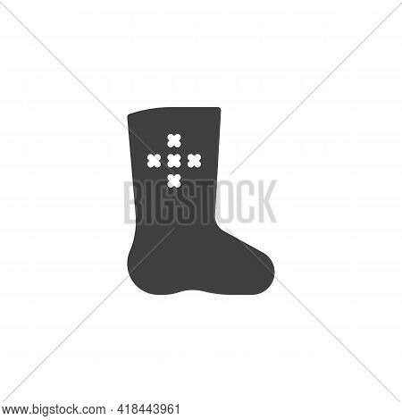 Russian Felt Boots Vector Icon. Filled Flat Sign For Mobile Concept And Web Design. Valenki Boots Gl