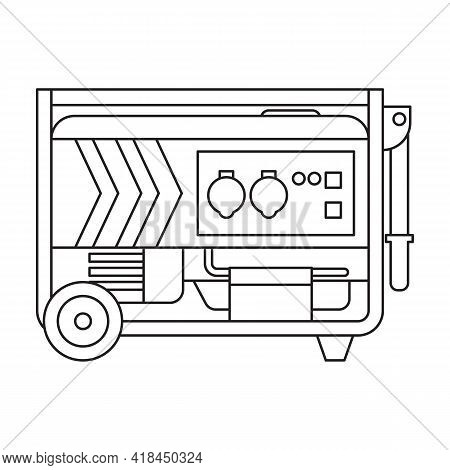 Generator Vector Icon.outline Vector Icon Isolated On White Background Generator.