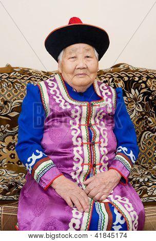 Senior Buryat (mongolian) Woman