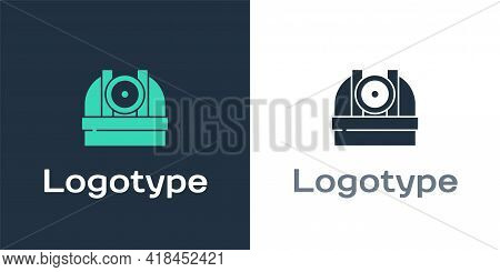 Logotype Astronomical Observatory Icon Isolated On White Background. Observatory With A Telescope. S