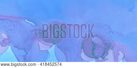 Pink Contemporary Color Wallpaper. Modern Ink Stains Marble. Blue Pastel Flow Liquid. Watercolour Ba