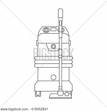 Car Vacuum Vector Icon.realistic Vector Icon Isolated On White Background Car Vacuum.