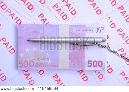 Banknote Money Background And Saving Money Concept,account, Accounting, Background, Bank, Banking, B