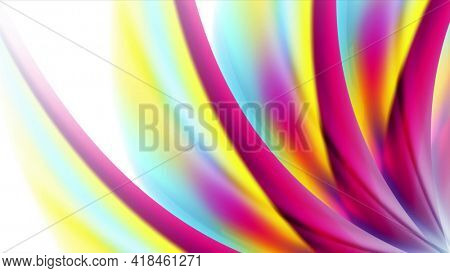 Colorful smooth wavy pattern abstract background