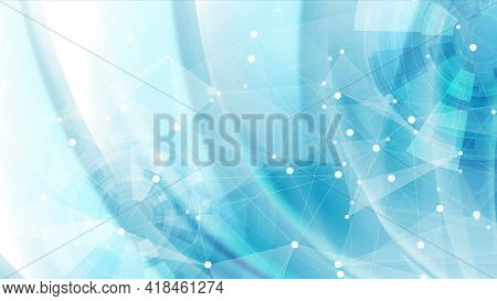 Bright blue futuristic technology abstract background