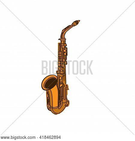 Illustration Vector Graphic Of Saxophone Logo Design