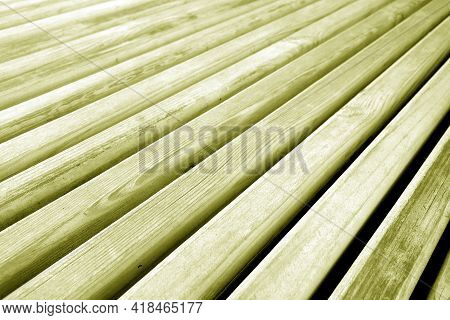 Wooden Planks Texture In Yellow Tone. Abstract Background And Texture For Design.