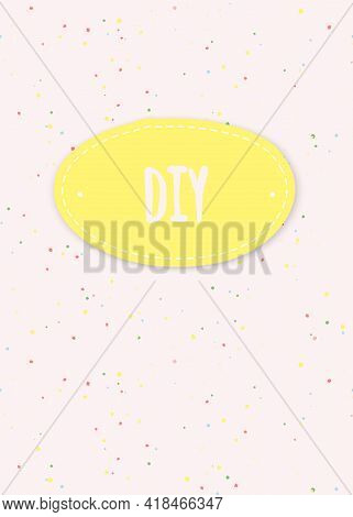 Vector Banner With Splashes Of Paint  And Place For Your Text. Template For Poster, Web And Advertis