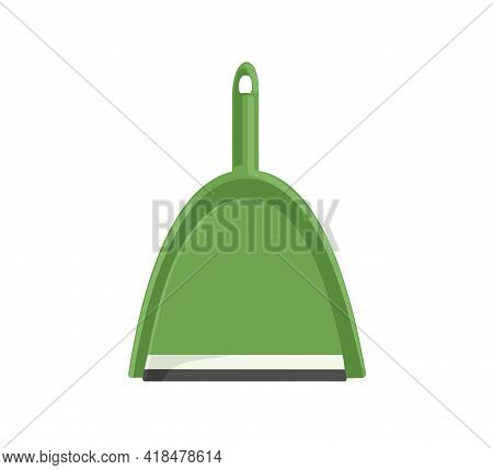Dustpan, Scoop Or Shovel For Housework. Dust Pan With Handle. Household Tool. Domestic Supply. Color