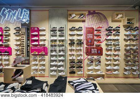 KUALA LUMPUR, MALAYSIA - CIRCA JANUARY, 2020: interior shot of AW Lab store in Suria KLCC shopping mall in Kuala Lumpur.