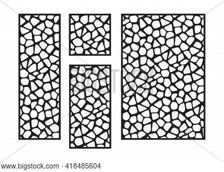 Cnc, Laser Cutting Vector Template. Abstract Panel, Privacy Fence, Room Divider, Partition Jali. Abs