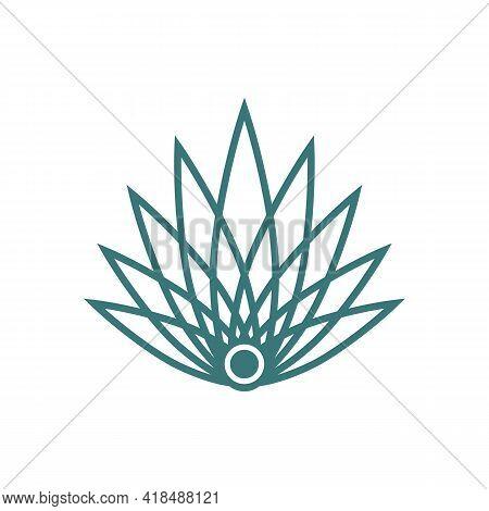 Illustration Vector Graphic Of Line Art Agave Logo
