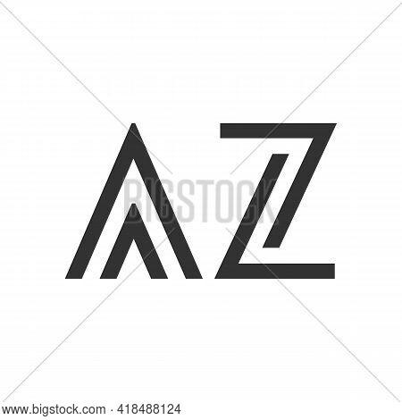 Illustration Vector Graphic Of Line Art Letter Az Logo